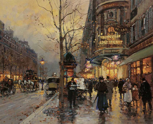 Boulevard Des Italians By Edouard Cortes
