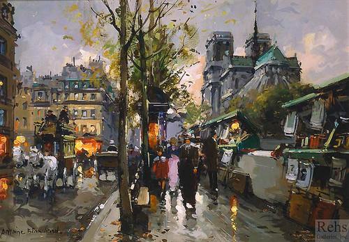 Bouquinistes De Notre Dame By Edouard Cortes