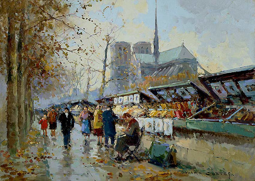 Bouquinistes By Edouard Cortes