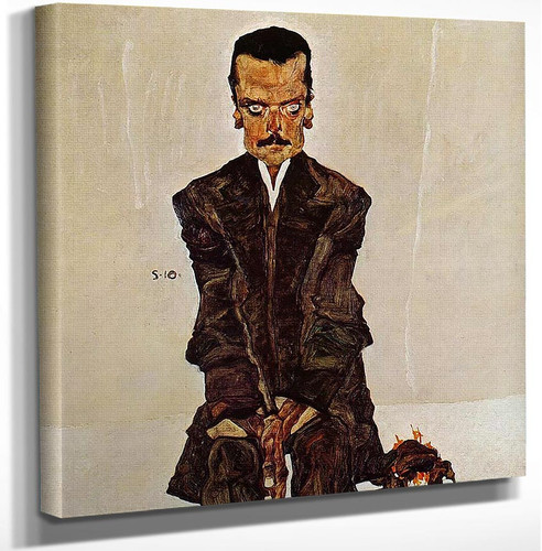 Portrait Of The Publisher Eduard Kosmack 1910 By Egon Schiele Art Reproduction from Wanford.