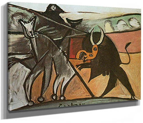 Bullfight By Corrida By 6 By Pablo Picasso