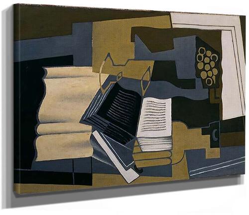 Carafe And Book 1920 By Juan Gris