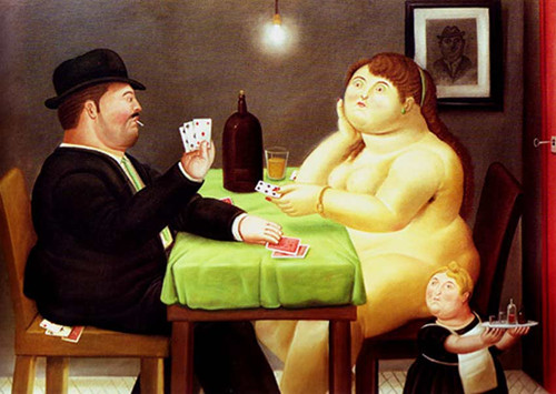 Card Players2 By Fernando Botero