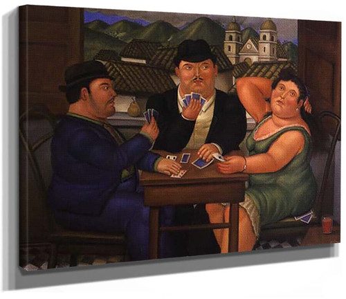 Card Players4 By Fernando Botero