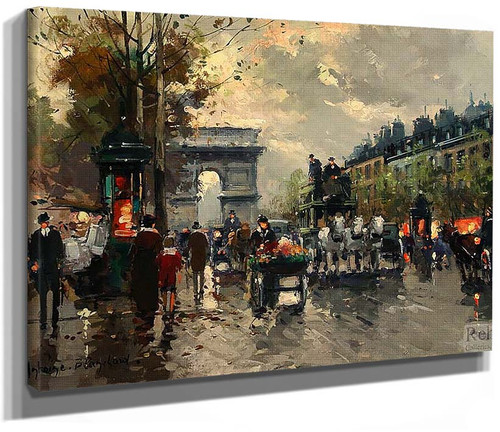 Champs Elysees Arc De Triomphe By Antoine Blanchard