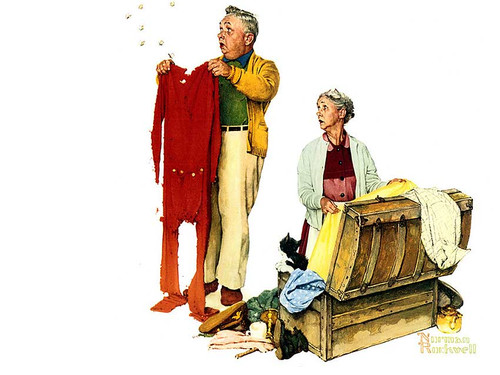 Chilly Reception By Norman Rockwell