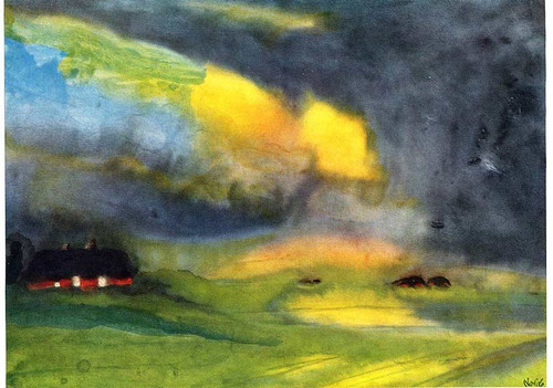 Colored Sky Above The Marais By Emil Nolde