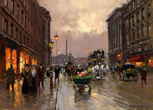 Concorde And Rue Royale By Edouard Cortes