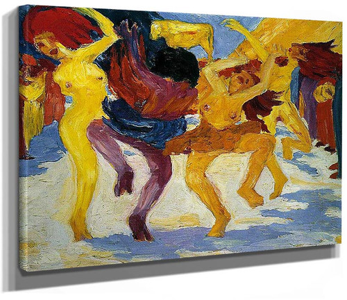 Dance Around The Golden Calf 1910 By Emil Nolde