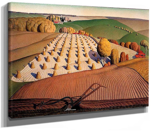 Fall Plowing 1931 By Grant Wood
