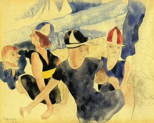 Figures O Beach Gloucester By Charles Demuth