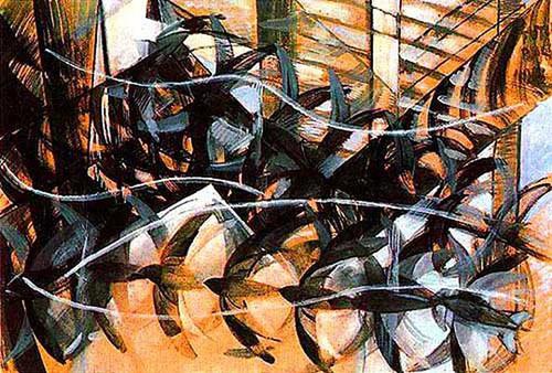 Flight Of The Swallows 1913 By Giacomo Balla
