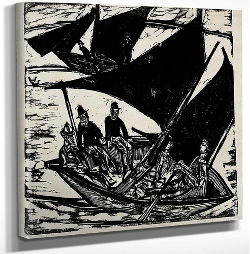 Sailboats At Fehmarn 1 By Ernst Ludwig Kirchner Art Reproduction from Wanford.