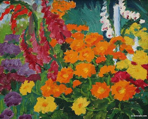 Flower Garden Marigolds 1919 By Emil Nolde