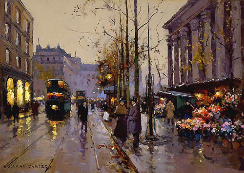 Flower Market At La Madeleine 4 By Edouard Cortes