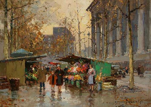 Flower Market At La Madeleine 6 By Edouard Cortes