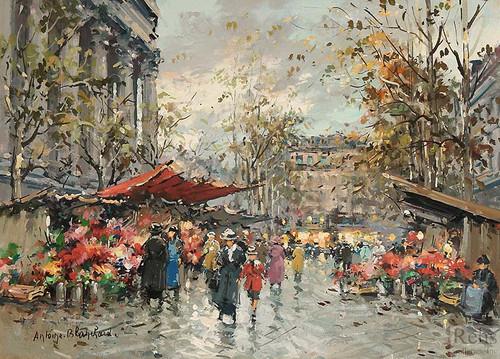 Flower Market Madeleine 2 By Antoine Blanchard