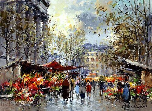 Flower Market Madeleine By Antoine Blanchard