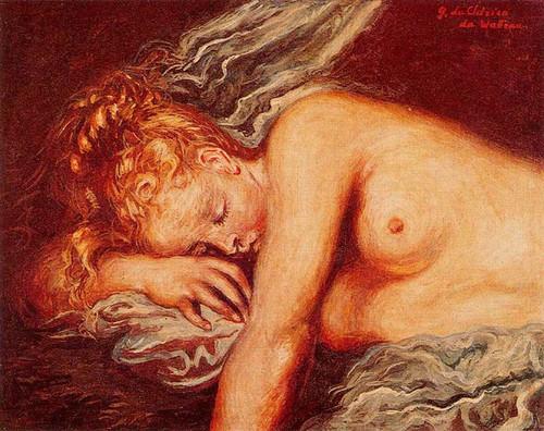 Girl Asleep By Giorgio De Chirico