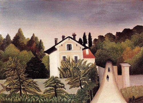 House On The Outskirts Of Paris 1902 By Henri Rousseau