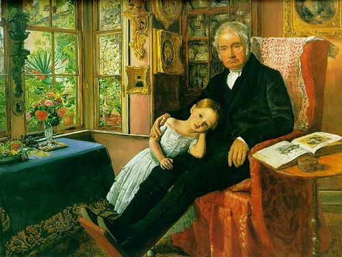 James Wyatt And His Granddaughter Mary By John Everett Millais