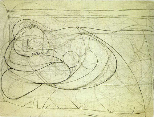 Lying Female Nude 1932 2 By Pablo Picasso