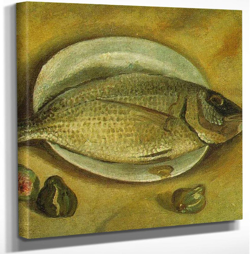 Still Life Fish By Salvador Dali Art Reproduction from Wanford.