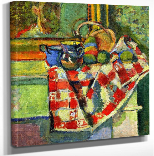 Still Life With A Checked Tablecloth By Henri Matisse Art Reproduction from Wanford.