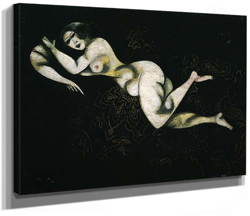 Nude Lying Down 1914 By Marc Chagall