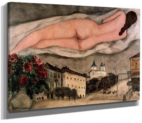 Nude Over Vitebsk 1933 By Marc Chagall