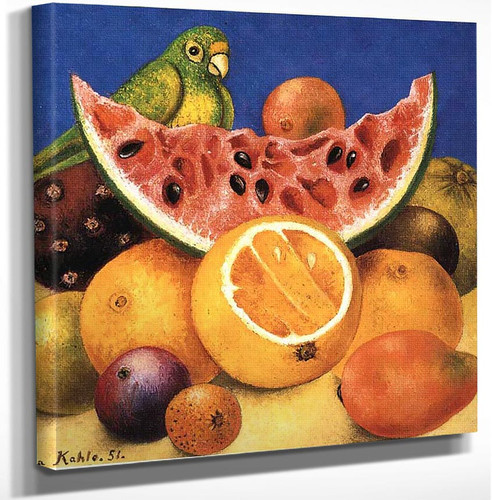 Still Life With Parrot 1951 By Frida Kahlo Art Reproduction from Wanford.