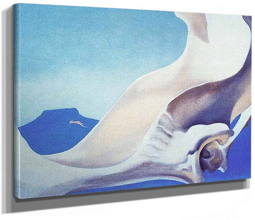 Pelvis With Pedernal By Georgia O Keeffe