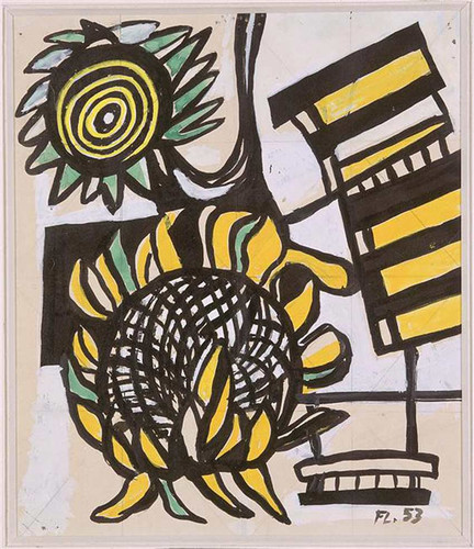 Sunflowers 1953 By Fernand Leger Art Reproduction from Wanford.