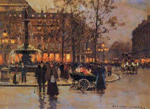 Place Du Theatre De La Comedie Francaise By Edouard Cortes