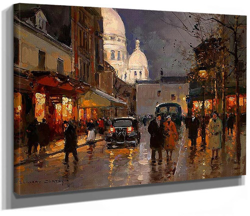 Place From A Knoll Sacred Heart By Edouard Cortes