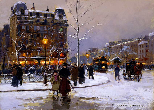 Place Pigalle Winter By Edouard Cortes