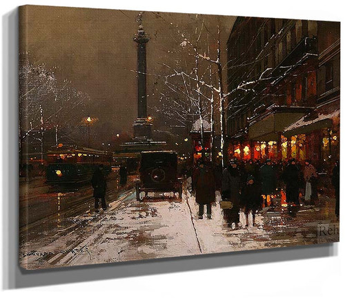 Place Vendome Soir Paris By Edouard Cortes