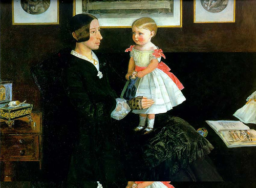Portrait Of Mrs James Wyatt By John Everett Millais