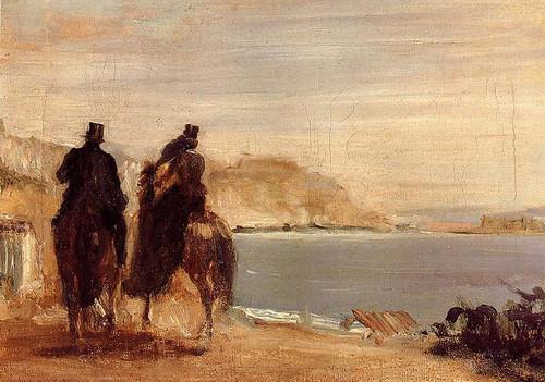 Promenade By The Sea By Edgar Degas
