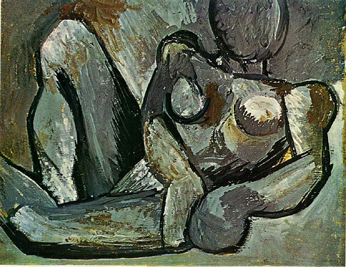 Reclining Nude 1908 1 By Pablo Picasso