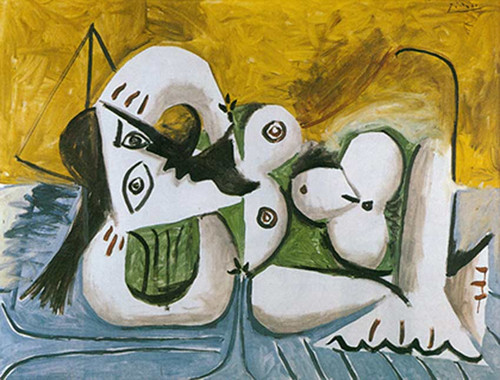 Reclining Nude On A Blue Divan By 1 By Pablo Picasso