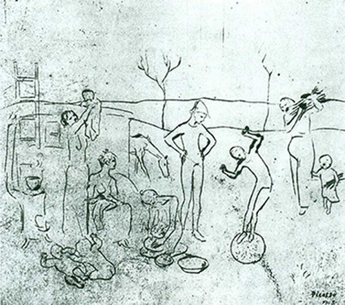 The Acrobats by Pablo Picasso Art Reproduction from Wanford.