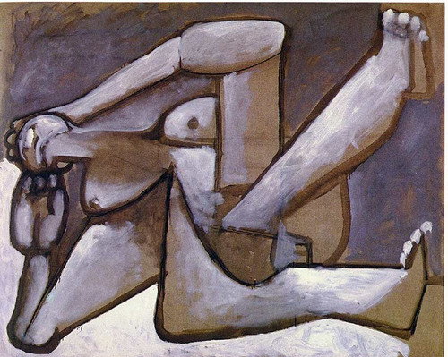 Reclining Woman 1954 By Pablo Picasso