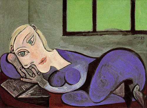 Reclining Woman Reading 1960 By Pablo Picasso