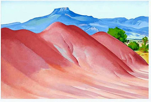 Red Hills And Pedernal By Georgia O Keeffe