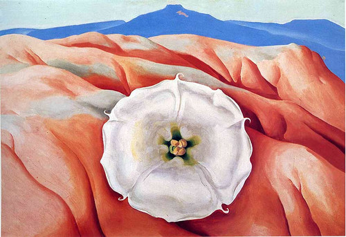 Red Hills And White Flower Ii By Georgia O Keeffe