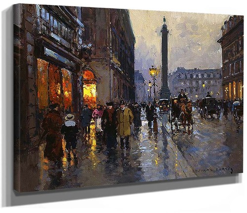 Rue De La Paix By Edouard Cortes
