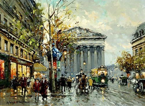 Rue Royal Madeleine 1 By Antoine Blanchard