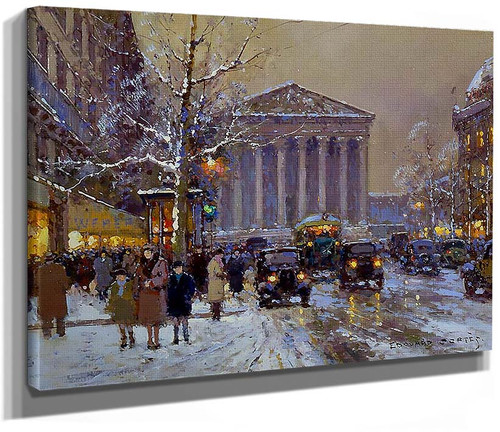 Rue Royale Madeleine Winter By Edouard Cortes