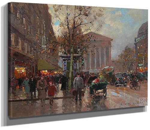 Rue Royale Madeleine By Edouard Cortes